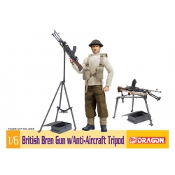 British Bren Gun with Anti Aircraft Tripod