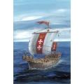 Hansa Kogge Medieval Cargo ship Cog